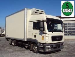 refrigerated truck MAN TGL 8 .180 Iso 5m Koffer Lbw Hochdach 2012