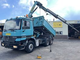 crane truck Mercedes-Benz 2648 Actros Kipper + Palfinger PK13000 Crane V8 Good Condition 1998