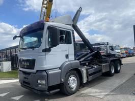 camião de contentores MAN TGS 26.440 6X4 MANUAL FULL STEEL + HOOKLIFT 2010