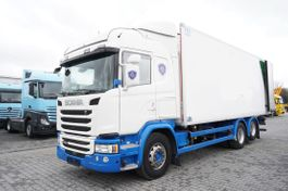 refrigerated truck Scania G490 , E6 , 6X2 , Meat hooks , 19 EPAL 2018