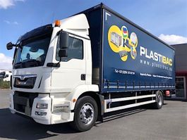 sliding curtain truck MAN TGM 19.290BL-EURO6-235751KM!!-SCHUIFZEILENBAK/2,5TON ONDERVOUWKLEP 2017