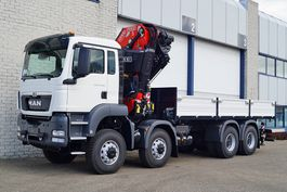 crane truck MAN TGS 41.440 BB-WW FLATBED WITH CRANE