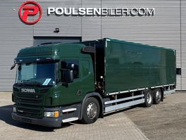 closed box truck Scania P320 Hydr. opening site 2014