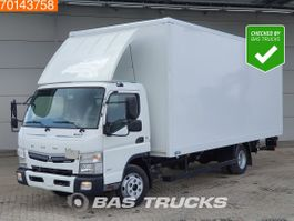 closed box truck Mitsubishi Fuso 7C18 4X2 Manual Ladebordwand Euro 6 2017