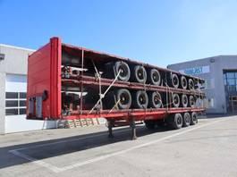 flatbed semi trailer Krone 13.6 m 2009
