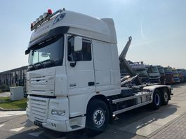 container truck DAF XF 105 6X2 + AJK NHS20 HOOKLIFT 2013