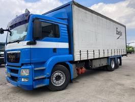sliding curtain truck MAN TGS 26 LL-Lift-Lenk-Schuifg.-Schuifdak-20 pallet-Moffetdrager 2008