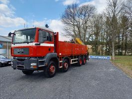 Pritschenwagen  MAN TGA 35 8x4 full steel + effer crane 210-3S very clean