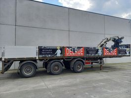 flatbed semi trailer Pacton Kraanoplegger 2000