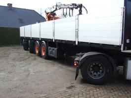 flatbed semi trailer Pacton kraanoplegger ook te huur 2002