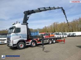 platform truck Volvo FH 520 8x4 + Hiab 700 E-6 + jib 2006