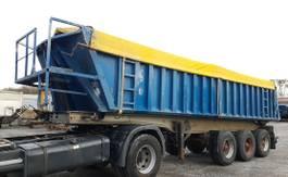 tipper semi trailer Trailor S343LB Kippauflieger Alu/Alu Blatt 27 m³ 301 1989