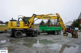 wheeled excavator Komatsu PW160-8 Wheeled excavator with good tires, rotor t 2013