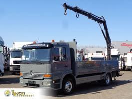 camion à plateforme Mercedes-Benz Atego 1223 + Manual + Hiab 052-2 1999