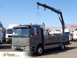 camion piattaforma Mercedes-Benz Atego 1223 + Manual + Hiab 052-2 1999