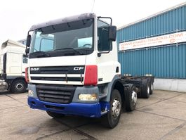 chassis cab truck DAF CF 85 8x4 FULL STEEL CHASSIS (MANUAL GEARBOX / EURO 3 / ZF-INTARDER / ONLY 345... 2002