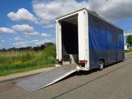 Tieflader Auflieger Louault 1-Axle Lowbed / Curtainside /  Loading Ramp 2010