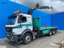 Plattform-LKW Mercedes-Benz 2539 6x2,Steel suspension, Hiab, EPS 16, 3 pedals 1997