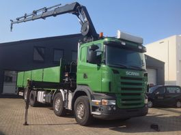 crane truck Scania R480 8x2 euro 4 hiab 211 EP-5 hipro 2008