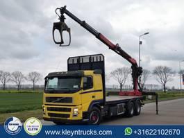 camión maderero Volvo FM 13.480 6x4 epsilon crane 2007