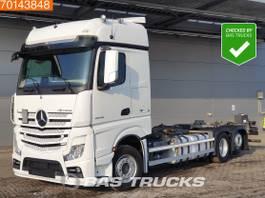 swap body truck Mercedes-Benz Actros 2545 6X2 Retarder Liftachse 2x Tanks BigSpace 2018
