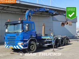 camion portacontainer Scania P360 8X4 Lift+Lenkachse Euro 5 Jonsered J1620 ZT93A 2010