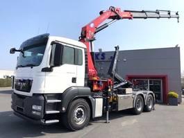 container truck MAN TGS 26.400BL-6X4-HMF 30T/M KRAAN!!-RADIOSTURING-HAAKARM! 2013