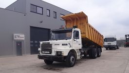 tipper truck > 7.5 t Scania 112 Torpedo (STEEL SUSPENSION / BIG AXLES / 10 TIRES / 6X4 / MANUAL PUMP) 1984