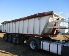tipper semi trailer Benalu 27m3,  voll ALU, -  Luftgefedert -Liftachse 2011