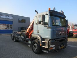 container truck MAN TGA 28.360  6x2  NCH 20T + Atlas 165.2E