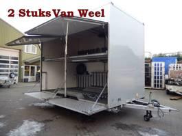 closed box car trailer VAN Weel VW3500L 35-WD-TL & 10-WD-VV Tandemas Gesloten - Fietsen Aanhangwage... 2009