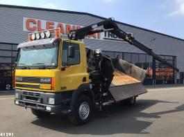 tipper truck > 7.5 t DAF CF 250 FAV 75 4x4 Hiab 11 ton/meter laadkraan 2003