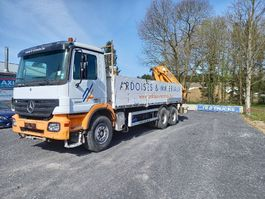 drop side truck Mercedes-Benz Actros 3341 - FULL STEEL -crane HMF2820 with rotator