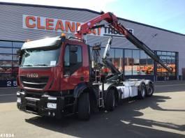 container truck Iveco Stralis AD320S42 Euro 6 HMF 9 ton/meter laadkraan 2016