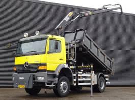 tipper truck > 7.5 t Mercedes-Benz Atego 1823 / 4X4 / CRANE + 3 SIDE TIPPER / 116 DKM 2001