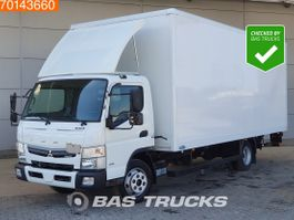 closed box truck Mitsubishi Fuso 7C18 4X2 Manual Ladebordwand Steelsuspension Euro 6 2017