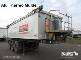 tipper semi trailer Langendorf Auflieger Kipper Alukastenmulde geïsoleerde trog 24m³ 2014