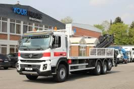 platform truck Volvo FMX 410 8x4 VEB+/Plattform 8m/Kran Hiab 15m/Funk 2012