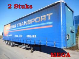 sliding curtain semi trailer Groenewegen DROV-12-27 3 As Oplegger Schuifzeil - MEGA, OH-91-KY & OG-49-XN - 2 Stuks
