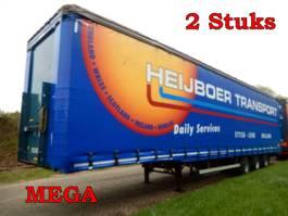 sliding curtain semi trailer Groenewegen DROZV-14-27 3 As Oplegger Schuifzeil MEGA OJ-73-KB & OK-86-SH, 2 Stuks