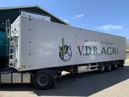 walking floor semi trailer Kraker CF-200 85m3 12.6L 2x Liftachse, Hochdruckreiniger, 8MM Floor, Top zustand 2014