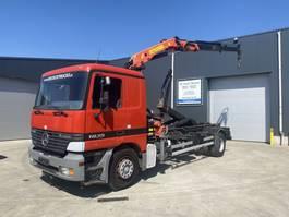 container truck Mercedes-Benz ACTROS 1835 HAAK + KRAAN PK13000