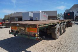 flatbed semi trailer Van Hool 3-assige oplegger 1992