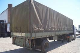 tilt semi trailer Groenewegen 1-assige oplegger 1978