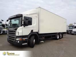 closed box truck Scania P320 + Euro 5 + Dhollandia lift 2012