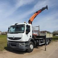 platform truck Renault Premium 370 PREMIUM LANDER 370 DXI 6X2 RETARDER PALFINGER PK15500 CRANE REMOTE CONTROL