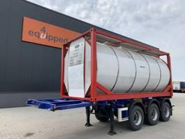 Container-Fahrgestell Auflieger M&V 20FT/3-Achsen, ADR, 3.980kg, Liftachse + 25.000L van Hool tankcontainer 2010