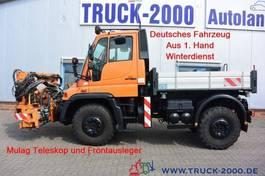 platform truck Unimog U400 4x4 Teleskop + Frontausleger Wechsellenkung 2006