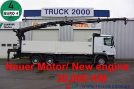 platform truck Mercedes-Benz Actros 2644 6x4 Hiab 166K Pro Hiduo 10.8 m=1.6 t 2006