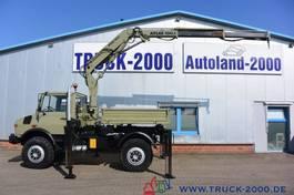 tipper truck > 7.5 t Mercedes-Benz Unimog U1650 Kipper Atlas 100.1 Kran 5.&6. Steuerkreis 1999